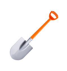 Orange plastic shovel vector