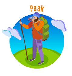 outdoor peaks hiking background vector image