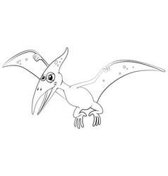 outline animal for pterosaur vector image