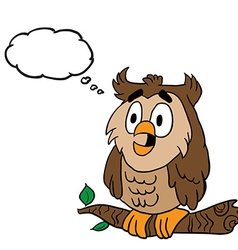 owl with thought bubble vector image