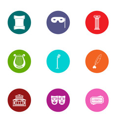 Pageant icons set flat style vector