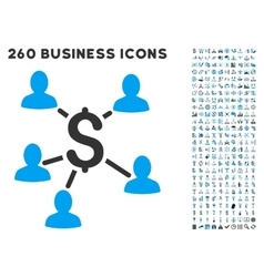 Payment Clients Icon with Flat Set vector