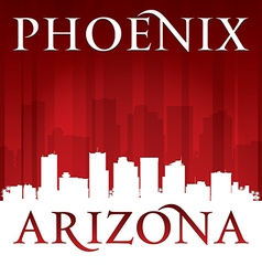 Phoenix Arizona city skyline silhouette vector image