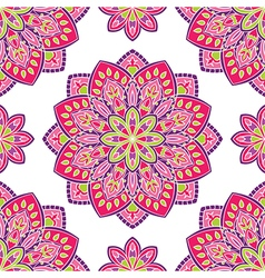 Pink pattern with mandalas vector