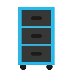 plastic drawers isolated icon vector image