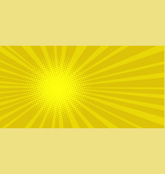 pop art sun background vector image