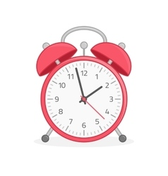 Red wake up clock vector image