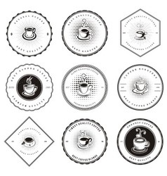 Retro Coffee Badges vector image