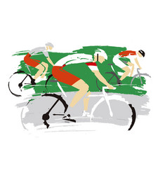 road cycling racers vector image