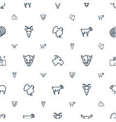 Rural icons pattern seamless white background vector