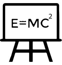 science physics atom molecule einstein vector image