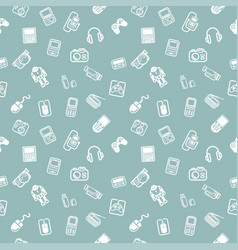 seamless gadgets background texture vector image