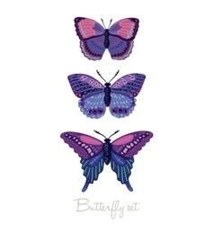 Set of decorative butterflies vector