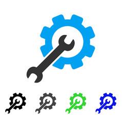 Setup tools flat icon vector
