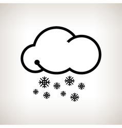 Silhouette snowfall vector