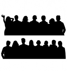 silhouettes man and women vector image