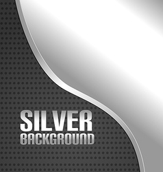Silver Curve Metal Abstract Background vector image