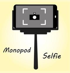 Smart phone monopod for selfie vector