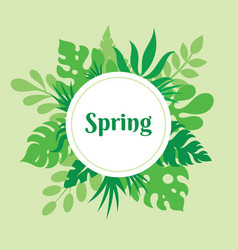 spring - concept poster with vector image