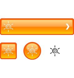 Sun button set vector