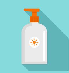 Sunscreen dispenser icon flat style vector