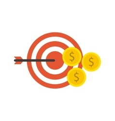 Target arrow with business icon vector