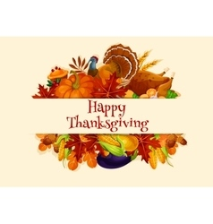 Thanksgiving Day harvest decoration banner vector image