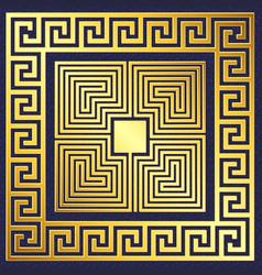Traditional vintage gold greek ornament vector
