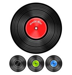 Vinyl audio discs set vector