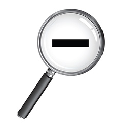 magnifying glass minus vector image
