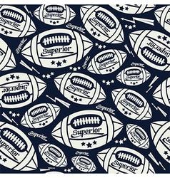 Seamless pattern rugby vector image