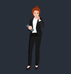 funny cartoon office worker smoking cigarette vector image