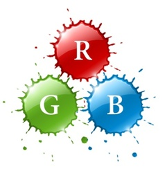 ink blob splashes vector image vector image