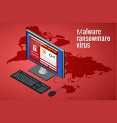 Ransomware malicious software that blocks access vector