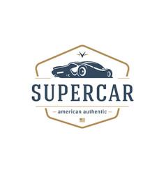sport car car logo template design element vector image vector image