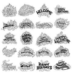 tattoo art design of collectio vector image vector image