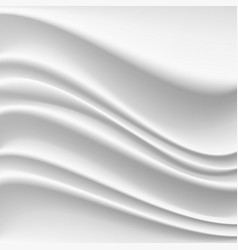 wavy silk abstract background realistic vector image vector image