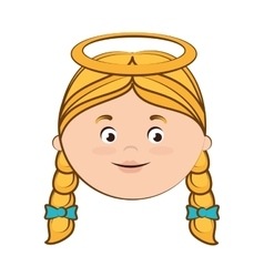 Angel heaven halo girl hair icon vector