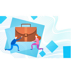 business people group team hold suitcase vector image vector image
