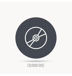 CD or DVD icon Multimedia sign vector image