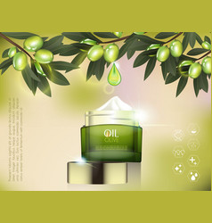 cream jar skin care product package vector image vector image