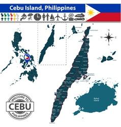 Map of cebu island vector