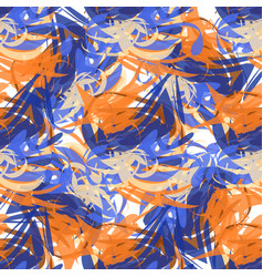 abstract seamless pattern of paint strokes vector image vector image