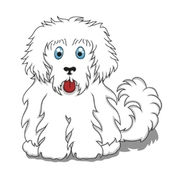 Cute Fluffy Cartoon Dog vector image vector image
