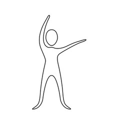 figure person stretching icon vector image