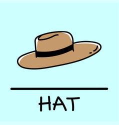 Hat hand-drawn style vector