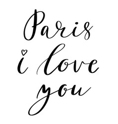 paris i love you vector image