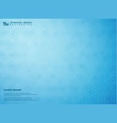 Abstract gradient blue of science pentagon vector