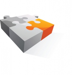 abstract puzzle icon and logo vector image vector image
