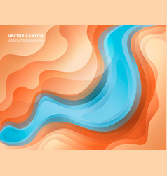 abstract warm and cool colours paper poster vector image